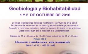 CURSO TALLER CASA SANA – GEOBIOLOGÍA Y BIOHABITABILIDAD 1 y 2 octubre